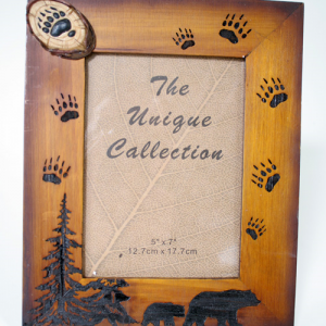 Wood Bear Frame with Paws