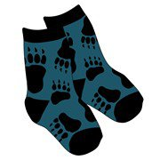 blue bear sock