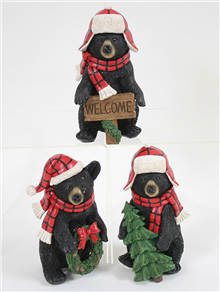 Christmas Bear Figurines