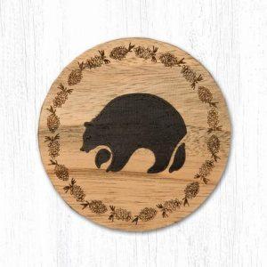 Wood Bear Coaster