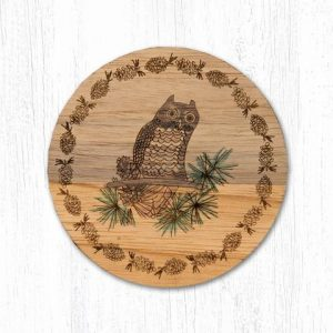 Wood Owl Coaster
