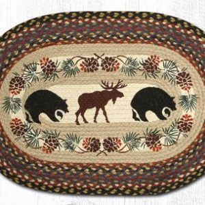 2 bears and moose rug