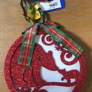glitter light up ornament