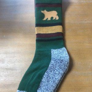 Green stripe sock
