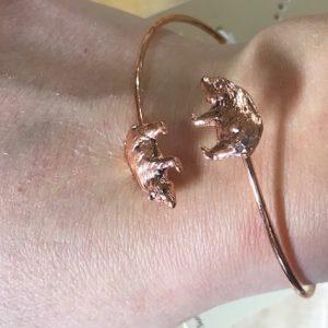 copper bear braclet